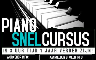 Het is zover: De eerste Snelcursus Piano-Workshop gaat van start!