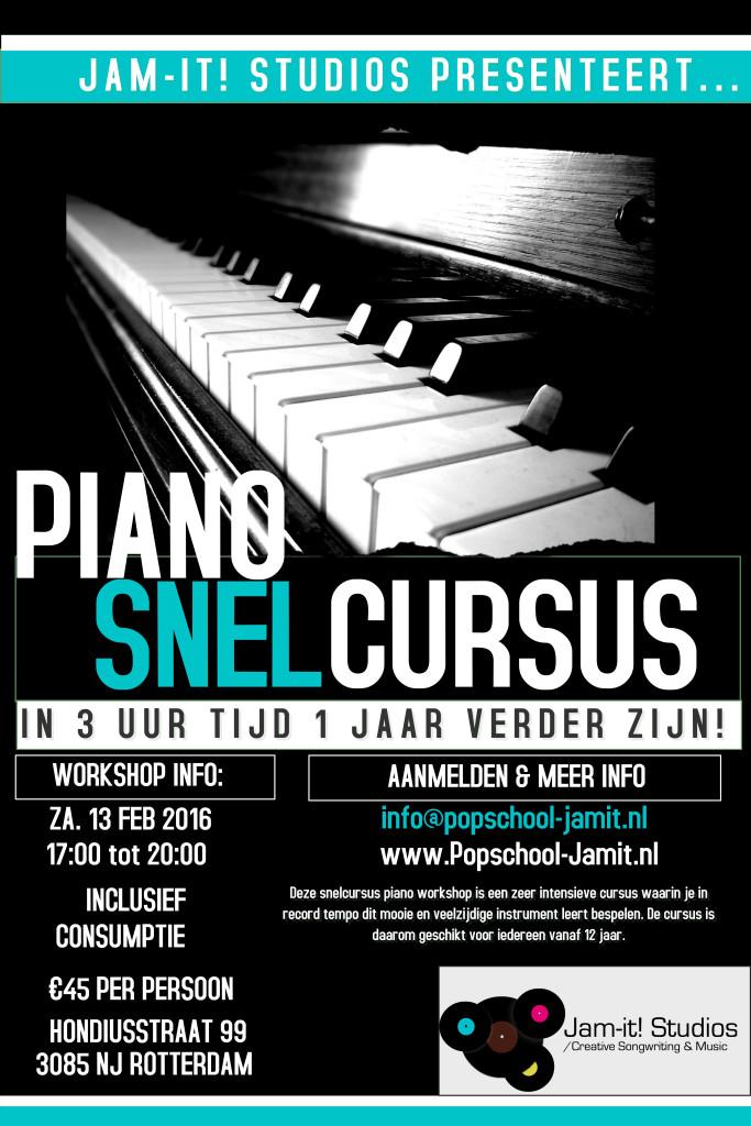 Poster Stoomcursis Piano
